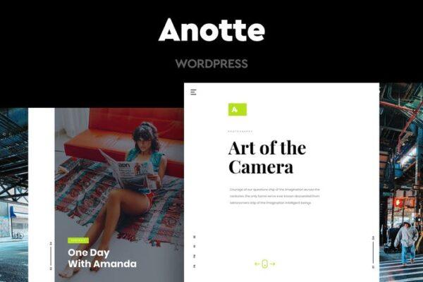 Anotte - Horizontal Photography WordPress Theme 1