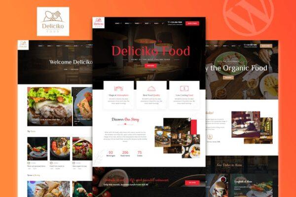 Deliciko - Restaurant WordPress Theme 1