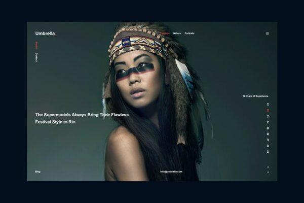Umbrella - Photography WordPress Theme. 1