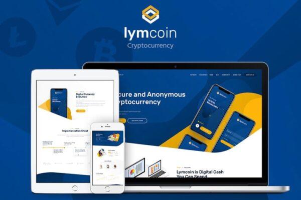 Lymcoin - Cryptocurrency & ICO WordPress Theme 1