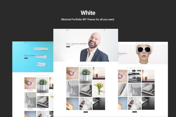 White – Minimal Portfolio WordPress Theme 1