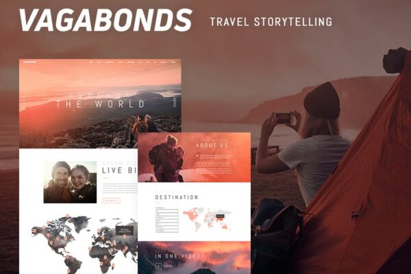 Vagabonds - Personal Travel & Lifestyle Blog Theme 1