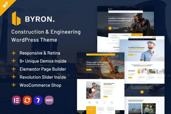 Byron - Construction and Engineering WP Theme 1