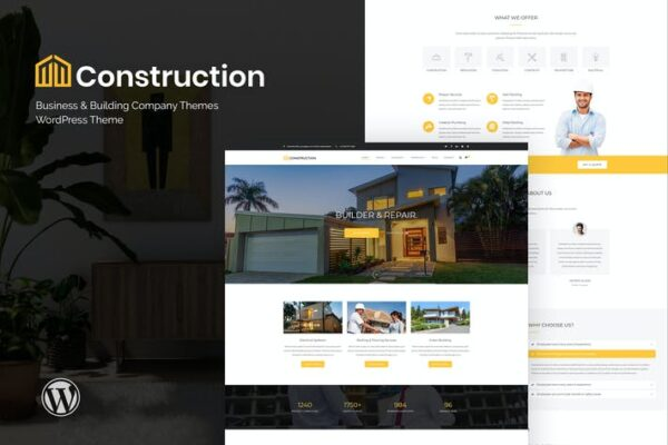 Construction - Business & Building Company WordPre 1