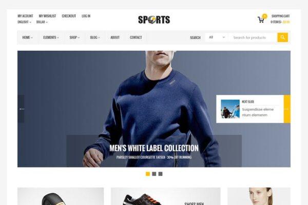 Sport Shop - Sporting Club RTL WooCommerce Theme 1