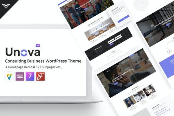 Unova - Consulting Business WordPress Theme 1