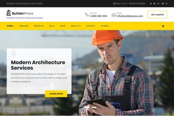 BuilderPress - WordPress Theme for Construction, A 1