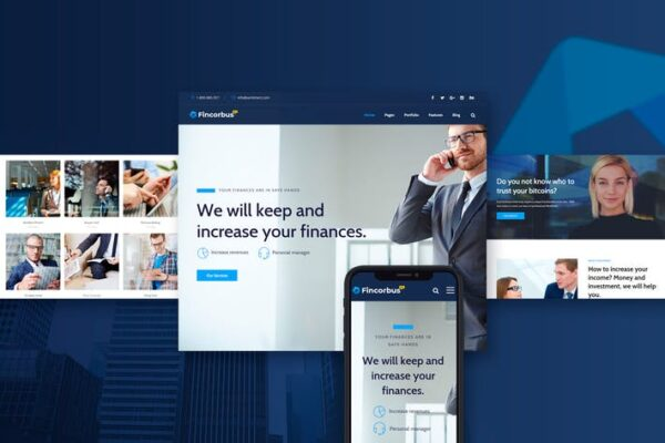 Fincorbus - Finance Corporate WordPress Theme 1