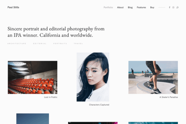 Stills — A Minimalist WordPress Photography Theme 1
