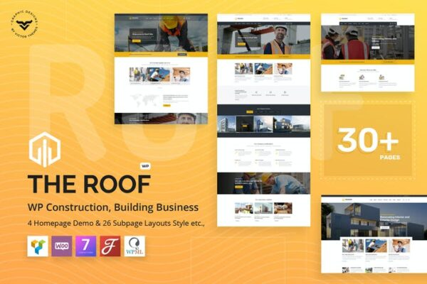 Roof - Construction, Building WordPress Theme 1