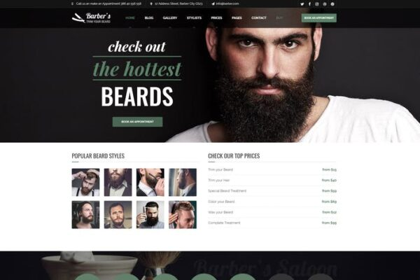 Barber - WordPress Theme for Barbers & Hair Salons 1