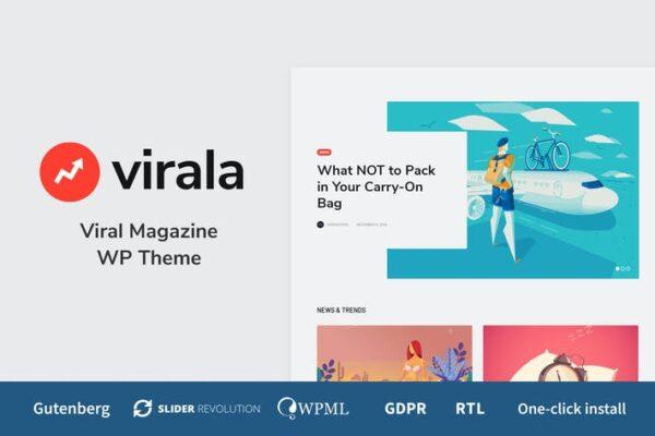 Virala - Viral Magazine WordPress Theme 1