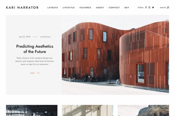 Narrator — A Minimalist WordPress Blogging Theme 1