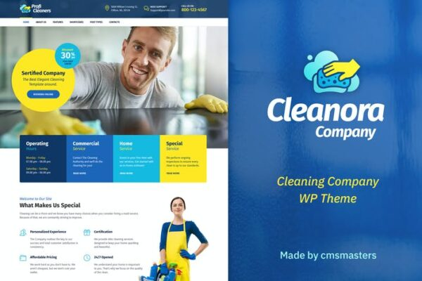 Cleanora - Cleaning Services Theme 1