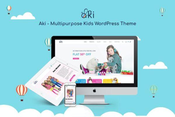 Aki - Multipurpose Kids WordPress Theme 1
