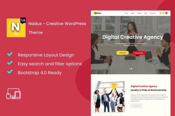 Nadus - Creative WordPress Theme 1