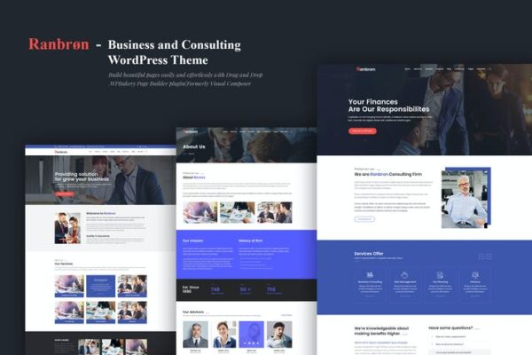 Ranbron - Business and Consulting WordPress Theme 1