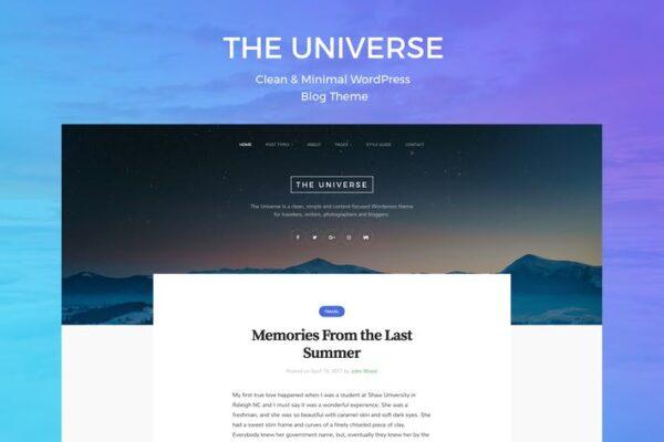 Universe - Clean & Minimal WordPress Blog Theme 1