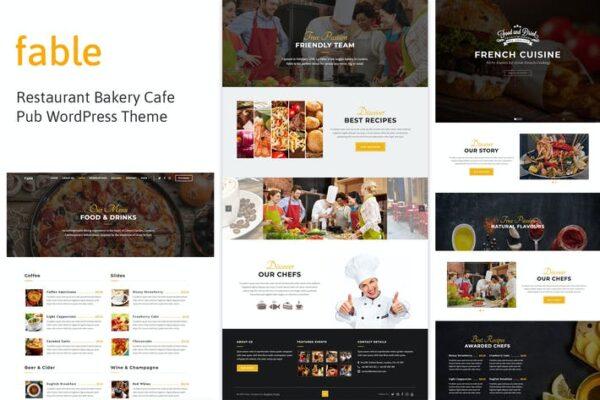 Fable - Restaurant Bakery Cafe Pub WordPress Theme 1