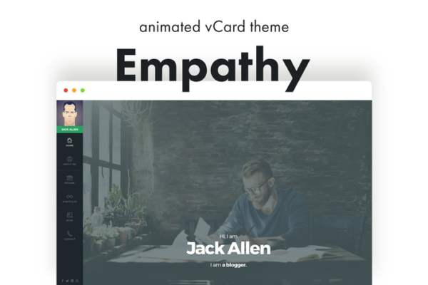Empathy - Animated vCard WordPress Theme 1