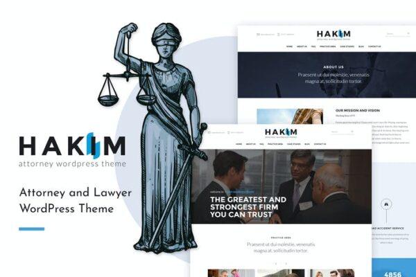 Hakim - Attorney and Lawyer WordPress Theme 1