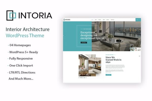 Intoriza - Interior Architecture WordPress Theme 1