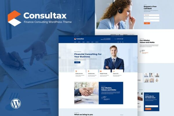 Consultax - Financial & Consulting WordPress Theme 1