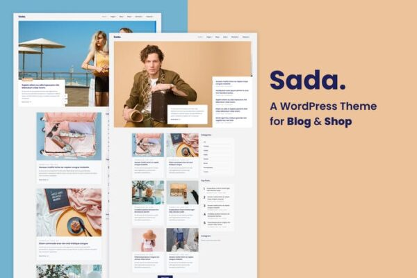 Sada - A WordPress Theme For Blog & Shop 1