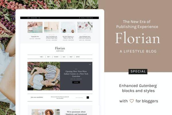 Florian - Responsive Personal WordPress Blog Theme 1