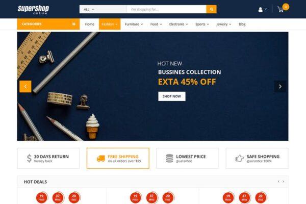 Super Shop - Market Store RTL Responsive WooCommer 1