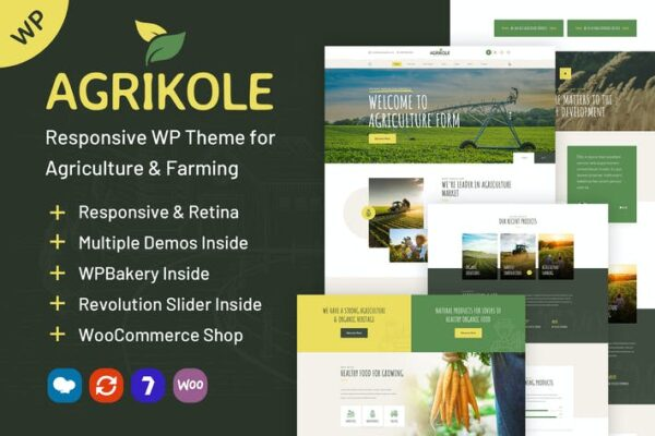 Agrikole - WordPress Theme for Agriculture Farms 1