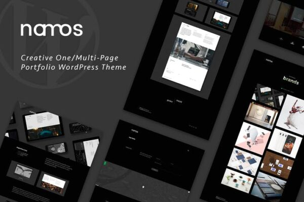 Namos - Creative One/Multi-Page Portfolio WordPres 1