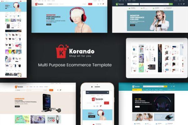 Korando - Theme for WooCommerce WordPress 1