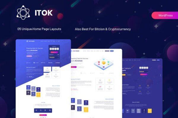 ITok - ICO and Cryptocurrency WordPress Theme 1