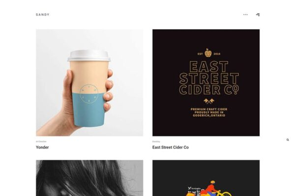 Sandy - Minimal Portfolio WordPress Theme 1