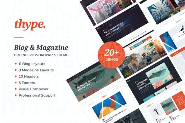Thype - Personal Blog & Travel WordPress Theme 1