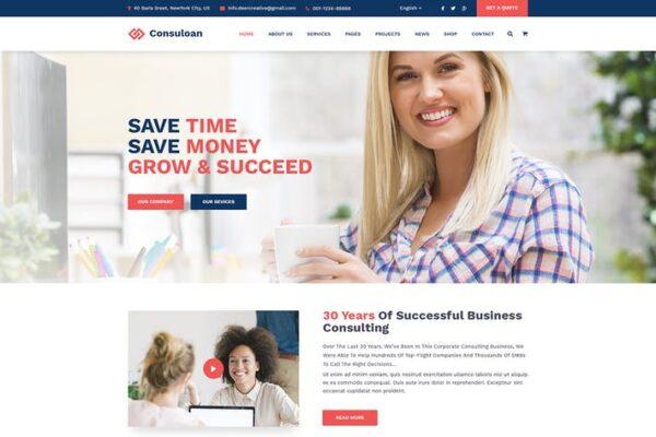 Consuloan - Multipurpose Consulting WordPress Them 1