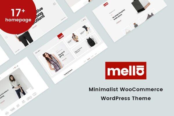 Mella - Minimalist WooCommerce WordPress Theme 1
