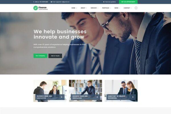 Finance - Consulting, Accounting WordPress Theme 1