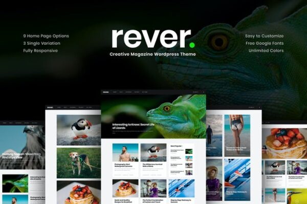 Rever - Clean and Simple WordPress Theme 1