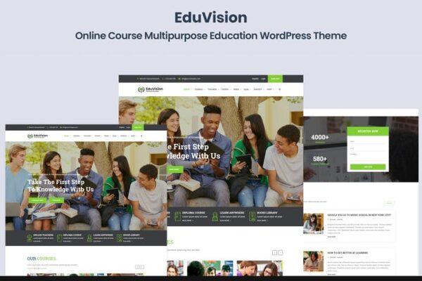 Eduvision - Online Course Education WordPress 1