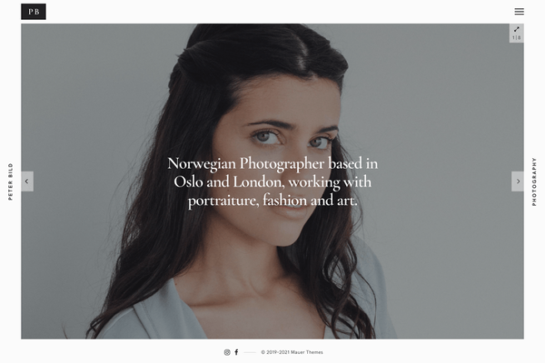 Bild — A Minimalist WordPress Photography Theme 1