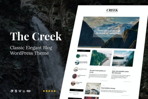 Creek - Classic Elegant Blog WordPress Theme 1