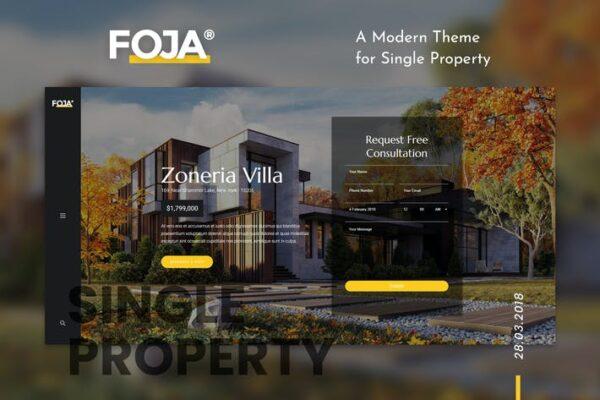 Foja - Single Property WordPress Theme 1