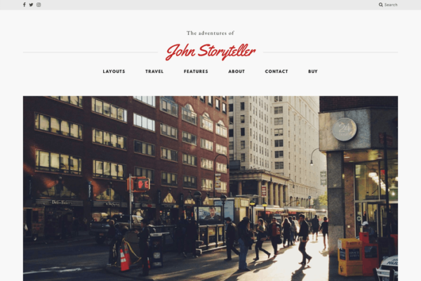 Storyteller — A Minimalist WordPress Blog Theme 1
