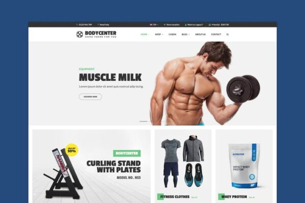 BodyCenter - Fitness WooCommerce WordPress Theme 1