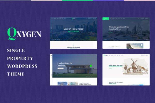 Qxygen - Single Property WordPress Theme 1