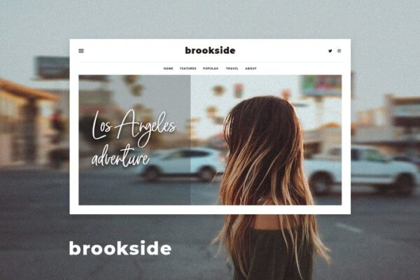 Brookside - Personal WordPress Blog Theme 1