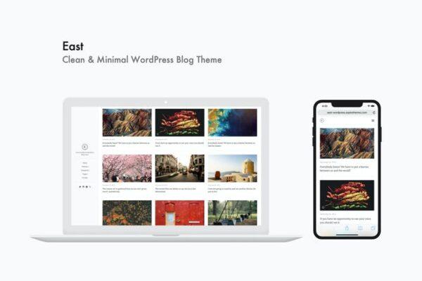 East - Clean & Minimal WordPress Blog Theme 1