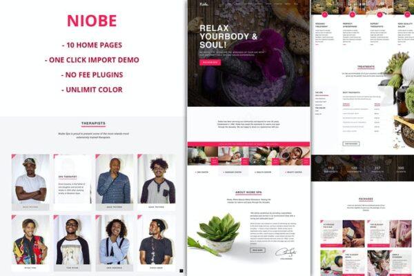 Niobe - Spa & Salon WordPress Theme 1